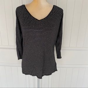 WHBM black & gray top size medium